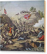 Fort Pillow Massacre, 1864 Wood Print by Granger