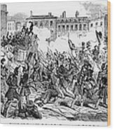France: Revolution, 1848 Wood Print