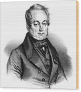 Fran�ois Magendie, French Physiologist Wood Print