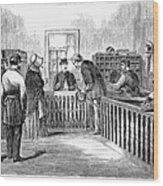 Freedmens Bureau, 1866 Wood Print