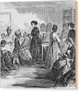 Freedmens School 1866 Wood Print by Granger