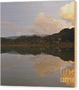 Furnas Lake Wood Print