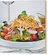 Garden Salad Wood Print