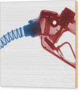 Gas Nozzle X-ray Wood Print