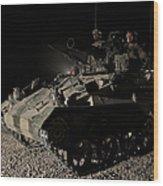 German Army Crew In A Wiesel 1 Atm Tow Wood Print
