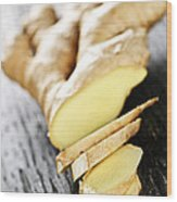 Ginger Root Wood Print
