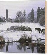 Glendalough, Co Wicklow, Ireland Wood Print