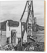 Golden Gate Bridge Work Wood Print