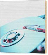 Hard Disc Wood Print by Tek Image