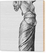 Harem Woman, 19th Century Wood Print