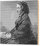 Harriet Beecher Stowe Wood Print by Granger