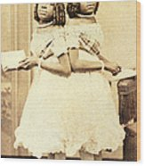 2 Headed Girl Millie-chrissie Wood Print by Photo Researchers