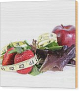 Healthy Diet Wood Print by Photo Researchers, Inc.