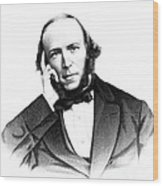 Herbert Spencer, English Polymath Wood Print by Science Source