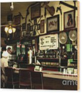 Historic Niles District In California Near Fremont . Bronco Billys Pizza Palace . 7d10707 Wood Print
