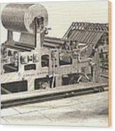 Hoe Web Printing Press Wood Print