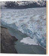 Hubbard Glacier Encroaching On Gilbert Point Wood Print