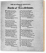 Hunters Of Kentucky, 1815 Wood Print