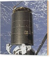 Intelsat Vi, A Communication Satellite Wood Print