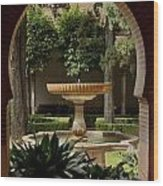 Islamic Fountain Wood Print