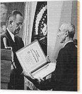 J. Robert Oppenheimer Wood Print by Granger