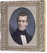 James Polk, 11th American President Wood Print by Photo Researchers
