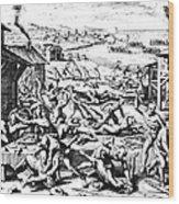 Jamestown: Massacre, 1622 Wood Print