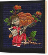Japanese Woman Wood Print