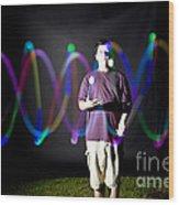 Juggling Light-up Balls Wood Print