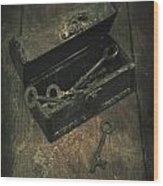 Keys Wood Print by Joana Kruse