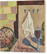 Kitchen Collage Wood Print