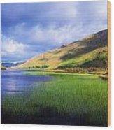 Kylemore Lake, Co Galway, Ireland Lake Wood Print by The Irish Image Collection