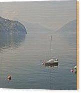 Lago Di Lugano Wood Print by Joana Kruse