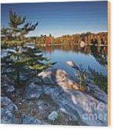 Lake George At Killarney Provincial Park In Fall Wood Print