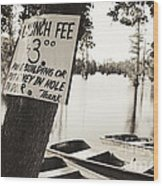 Launch Fee - Sepia Toned Wood Print