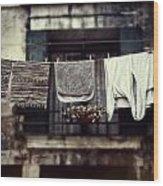 Laundry Wood Print by Joana Kruse