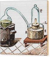 Lavoisiers Apparatus To Study Air Wood Print