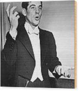 Leonard Bernstein 1918-1990 American Wood Print by Everett