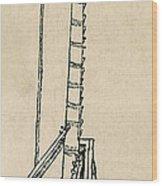 Leonardo Da Vincis Lifting Gear Wood Print by Science Source