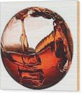 Liquid Sphere Wood Print