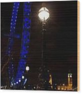 London Eye Night View Wood Print