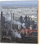 Magnitogorsk Iron And Steel Works Wood Print