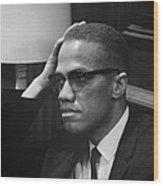 Malcolm X (1925-1965) Wood Print