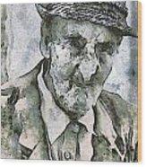 Man Portrait Wood Print by Odon Czintos
