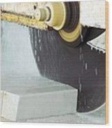 Marble Quarrying Wood Print