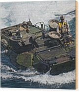 Marines Navigate An Amphibious Assault Wood Print