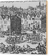 Massacre Of Huguenots Wood Print