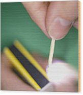 Match Igniting Wood Print