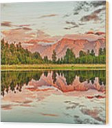 Matheson Lake Wood Print by MotHaiBaPhoto Prints