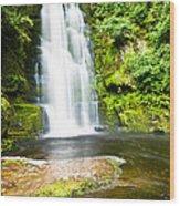 Mclean Falls In The Catlins  Wood Print